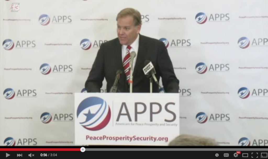 Mike Rogers at Americans for Peace Prosperity and Security Event